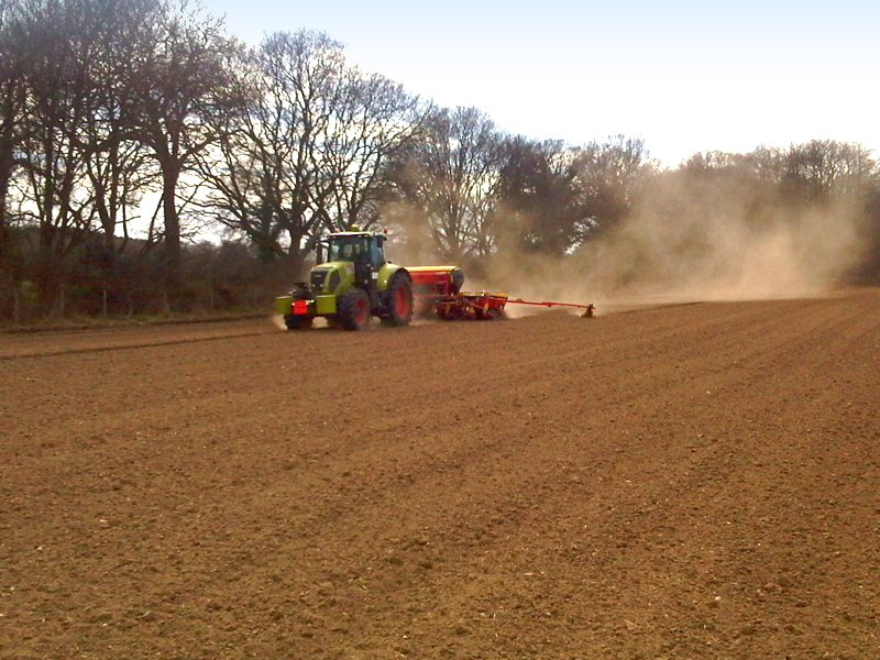 Maize drilling with new Tempo drill- 18th April